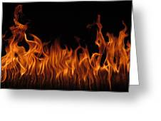 Fire Dancers Greeting Card