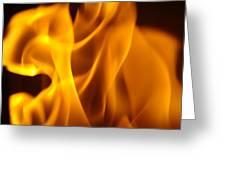 Fire Desires Art Fiery Hot New York Autumn Warmth Baslee Troutman Greeting Card