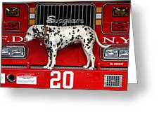 Fire Dog Greeting Card