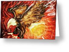 Fire Eagle Greeting Card