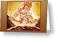 Fire Elemental Greeting Card