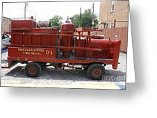 Fire Engine Of Older Years  Greeting Card