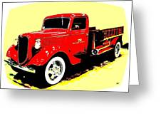 Fire Engine Ok Greeting Card