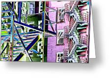 Fire Escape 2 Greeting Card