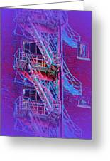 Fire Escape 4 Greeting Card