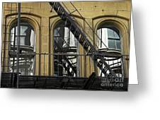 Fire Escape On Franklin Street Greeting Card