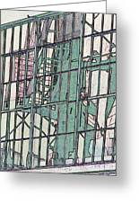 Fire Escape Reflection Greeting Card