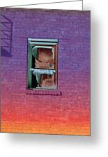 Fire Escape Window 2 Greeting Card