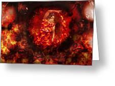 Fire Eye Greeting Card