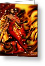 Fire Fae Greeting Card