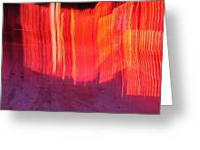 Fire Fence Greeting Card