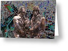 Fire Fighters Memorial Seattle Greeting Card