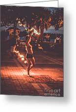 Fire Girl Greeting Card by Claudia M Photography