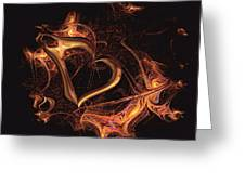 Fire Heart Greeting Card