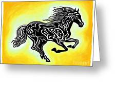 Fire Horse 3 Greeting Card