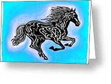 Fire Horse 5 Greeting Card
