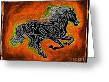 Fire Horse Neona 4 Greeting Card
