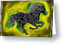 Fire Horse Neona 5 Greeting Card