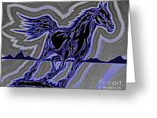 Fire Horse Zap 4 Greeting Card