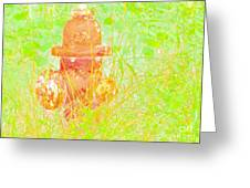 Fire Hydrant Watercolor Greeting Card