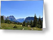 Fire In Glacier National Park Greeting Card