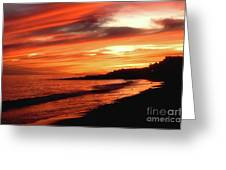 Fire In Sky Greeting Card