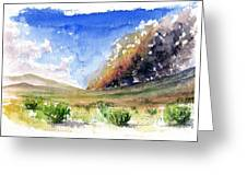 Fire In The Desert 1 Greeting Card