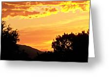 Fire In The Sky 1 Greeting Card by Brian  Commerford