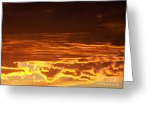 Fire In The Sky 2 Greeting Card