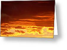 Fire In The Sky 3 Greeting Card