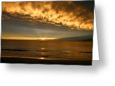Fire In The Sky Maui Hawaii Greeting Card