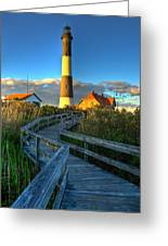 Fire Island Lighthouse Before Sunset Greeting Card