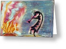 Fire Light Greeting Card