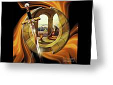 Fire Of Glory Greeting Card