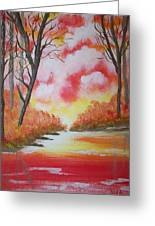 Fire Of God Greeting Card