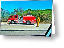 Fire On The 405 Greeting Card