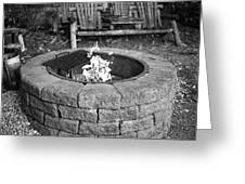 Fire-pit Greeting Card