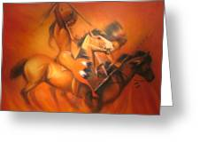 Fire Riders Greeting Card