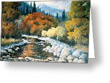 Fire River Greeting Card