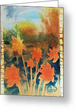 Fire Storm In The Wild Flower Meadow Greeting Card