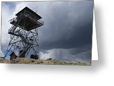 Fire Tower On Bald Mountain Surrounded Greeting Card