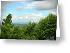 Fire Tower View - Pipestem State Park Greeting Card