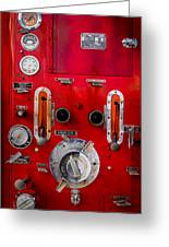 Firetruck Auxiliary Pump Controls Greeting Card