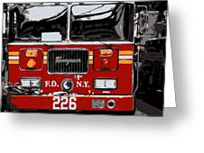 Fire Truck Color 6 Greeting Card