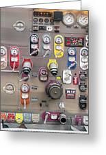 Fire Truck Controls Greeting Card