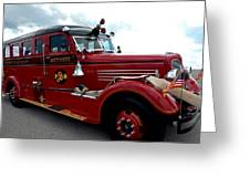 Fire Truck Selfridge Michigan Greeting Card