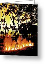 Fire Water Greeting Card