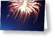 Fire Work Folly Greeting Card