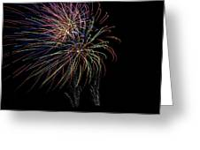Fire Works Greeting Card by Kelly Schuler