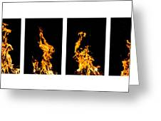 Fire X 6 Greeting Card